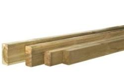 Regel geschaafd grenen 4,4 x 6,8 x 390 cm