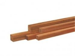 Hardhouten geschaafde paal gepunt  6,5x6,5x200cm