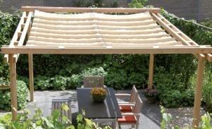 Schaduwpergola vuren 290 x 500 cm Antraciet  incl. houtpakk…