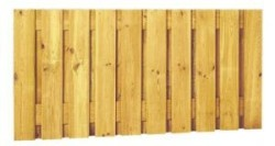 Hout-Beton rotsmotief plankenscherm recht grenen 180x150cm