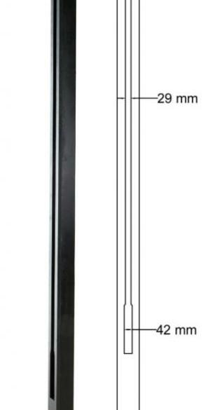 Betowood hoekpaal antraciet 11,5 x 11,5 x 277 cm