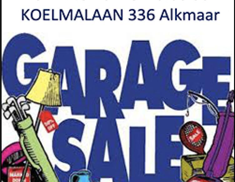 GARAGESALE 26 mei KOELMALAAN 336 Alkmaar