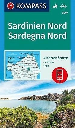Wandelkaart Fietskaart Sardinie 2497 Sardinië Noord 4 kaart…