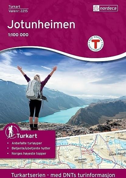 Topografische Wandelkaart Noorwegen 2215 Jotunheimen - Nord…