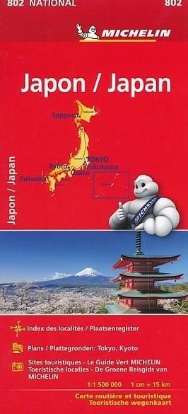Wegenkaart - Landkaart Japan 802 - Michelin National