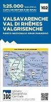 Wandelkaart 102 Valsavarenche Val di Rhemes Valgrisenche Pa…