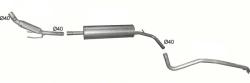 Complete uitlaat Volkswagen Up 1.0 2011 - Heden (2309c)