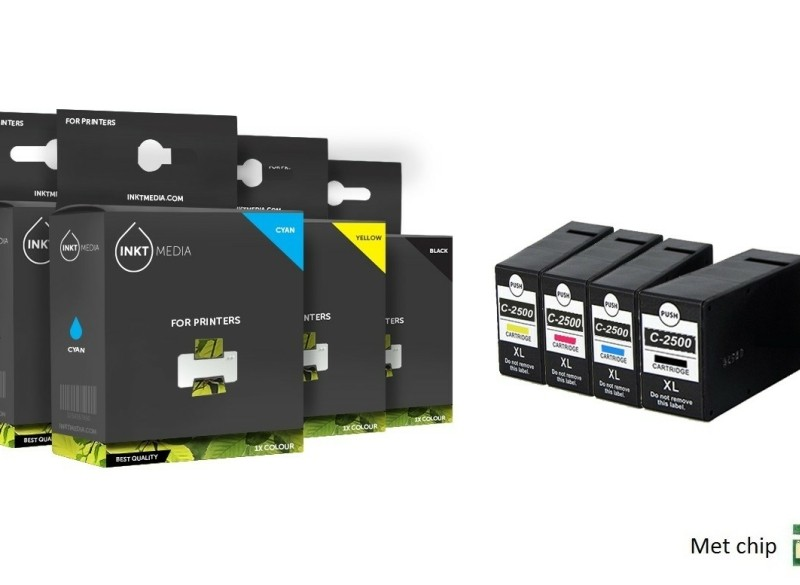 Geschikt Set Canon PGI-2500XL BK C M Y inktcartridge multi…