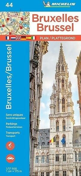 Stadsplattegrond Brussel / Bruxelles 44 - Michelin Stadspla…