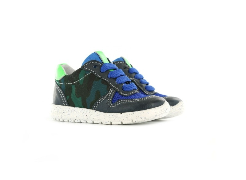Sneaker - Blauw camouflage-24