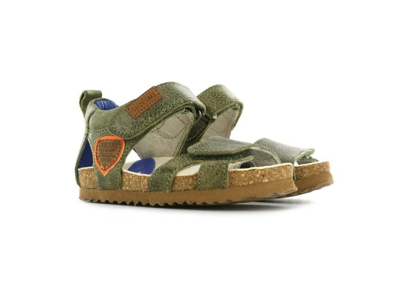 Shoesme sandaal - Army green met oranje patch-26