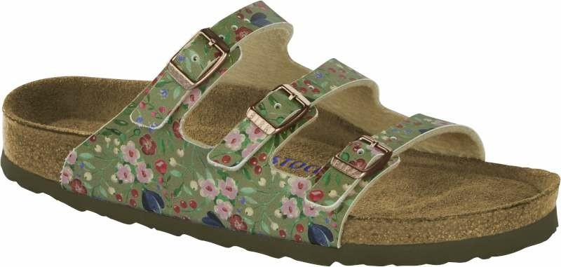 Florida - Meadow Flowers Khaki Soft Footbed-40-Smalle voet