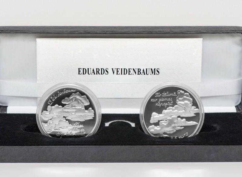 Letland 2 x 2,5 Euro 2017 Eduards Veidenbaums