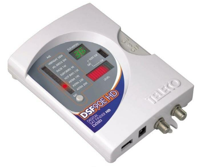 Teleco DSF90E HD satfinder (elevatie)