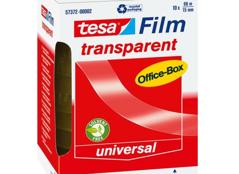 <p>Tesa Tesafilm officebox transparant plakband 66 m x 15 m…
