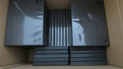 Doos met 70 dvd hoesjes