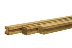 Sleufpaal grenen 8,8 x 8,8 x 270 cm TUSSENPAAL