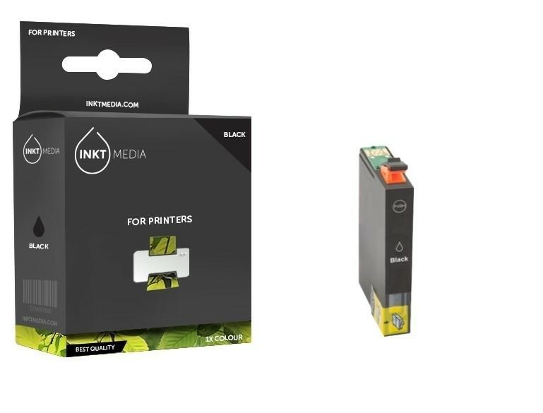 Geschikt Epson T0801  inktcartridge Zwart  van Inktmedia