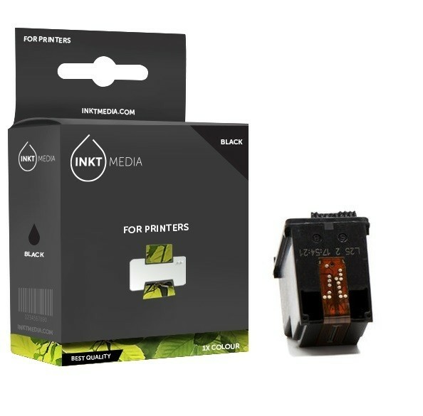 Geschikt HP 336 C9362EE inktcartridge zwart van Inktmedia