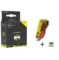 Geschikt Canon CLI-521Y  inktcartridge Geel MET CHIP van In…