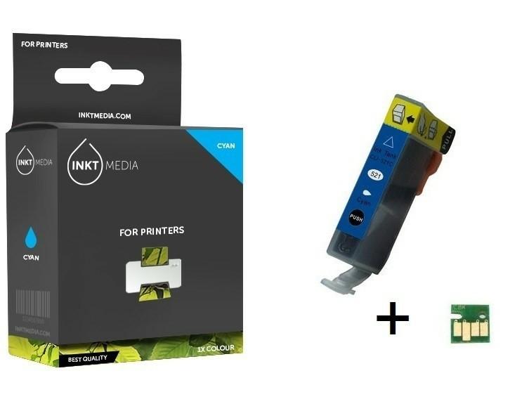 Geschikt Canon CLI-521C inktcartridge Cyaan MET CHIP van In…