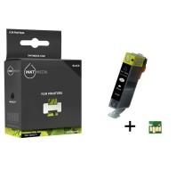 Geschikt Canon CLI-521BK inktcartridge Zwart MET CHIP van I…