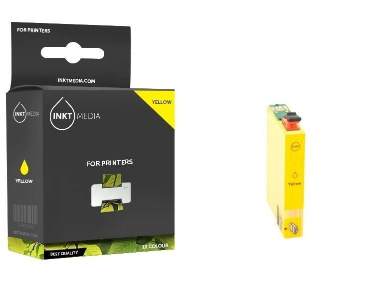 Geschikt Epson T0804  inktcartridge Geel van Inktmedia