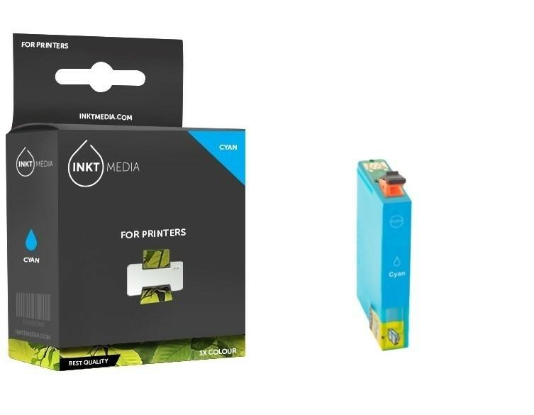 Geschikt Epson T0712  inktcartridge Cyaan van Inktmedia