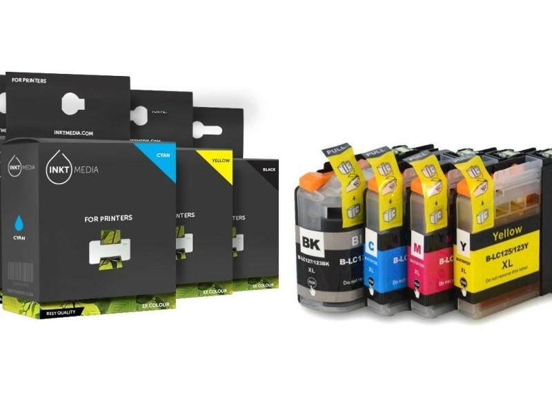 Geschikt Brother LC-127XL & 125XL Set inktcartridge van Ink…