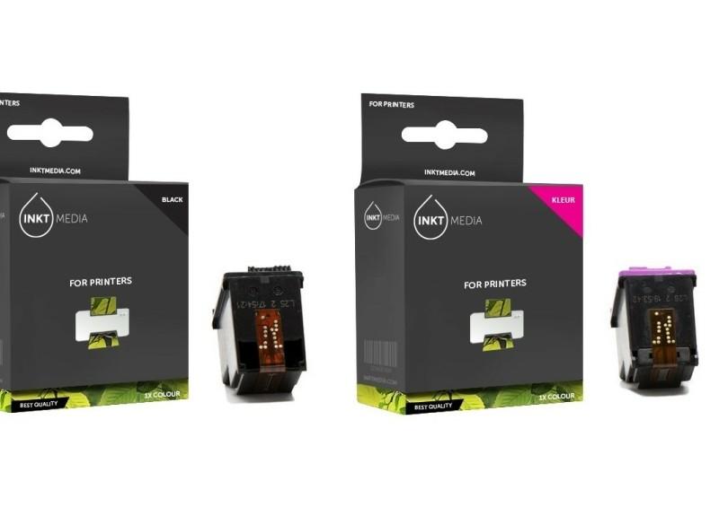 Geschikt Set HP 62XL (C2P05AE) inktcartridge zwart HP 62XL.…