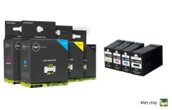 Geschikt Set Canon PGI-1500XL BK C M Y multi pack zwart, cy…