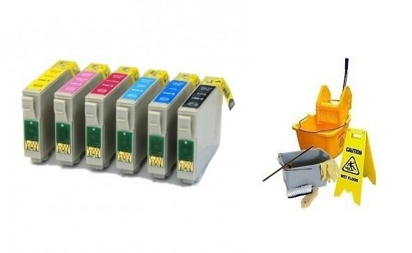 Geschikt Epson T0801 tot T0806 T0807 SET Reinigings inktcar…