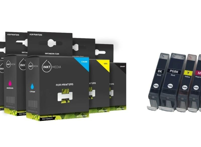 Geschikt Canon bci-3 en bci-3/6 serie complete SET van Inkt…