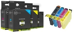 Geschikt Epson T1281  t/mT1284   T1285 set van Inktmedia