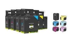 Geschikt HP 363 serie compatible Complete set van 6 cartrid…