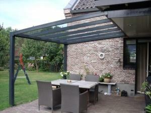 Glasoverkapping Trendline 400 x 400 cm