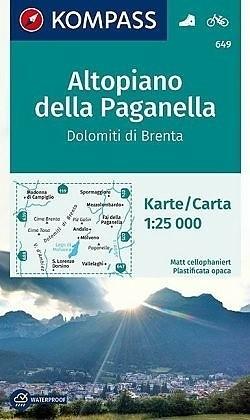 Wandelkaart 649 Altopiano della Paganella, Dolomiti di Bren…