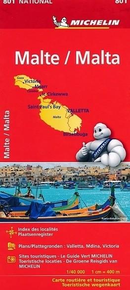 Wegenkaart - Landkaart 801 Malta - Michelin National