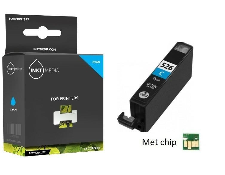 Geschikt Canon CLI-526C inktcartridge Cyaan MET CHIP van In…