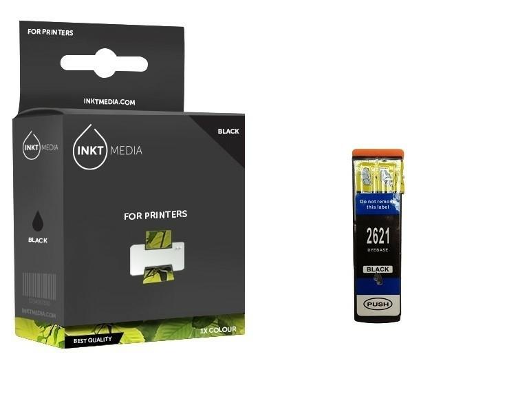 Geschikt Epson 26XL (T2621 T2601) inktcartridge zwart hoge.…