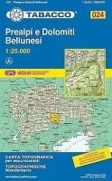 Wandelkaart 024 Prealpi E Dolomiti Bellunesi Tabacco