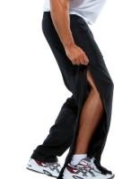 Trainings broek Barton met doorlopende rits Kleur zwart