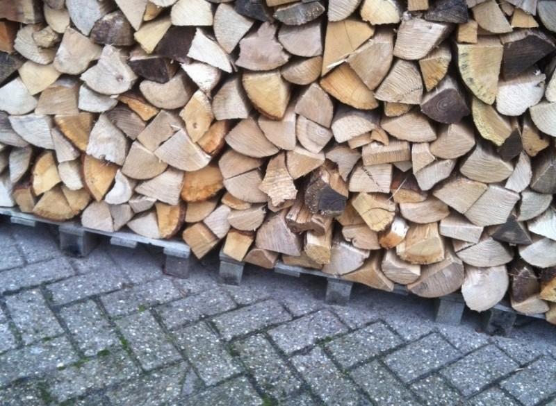 droog gekloofd openhaardhout