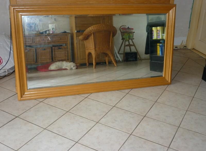 Grote blank eiken spiegel 90x170