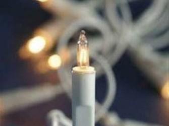 witte kerstlampjes voor in een witte kerstboom