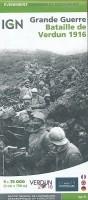 Slagveldkaart Bataille de Verdun 1916 Grande Guerre | Insti…