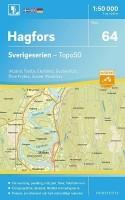 Topografische Wandelkaart Zweden 64 Hagfors Sverigeserien T…