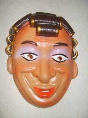 Masker Moeder met krulspelden