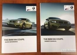 Originele BMW M4 Coupe Instructieboekjes Engels NIEUW