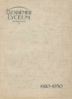 Kennemer Lyceum Bloemendaal 1920 - 1930